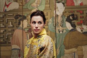 Celine, London Gallerist, in Robes of Silk.