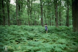 Girl Amidst the Ferns.