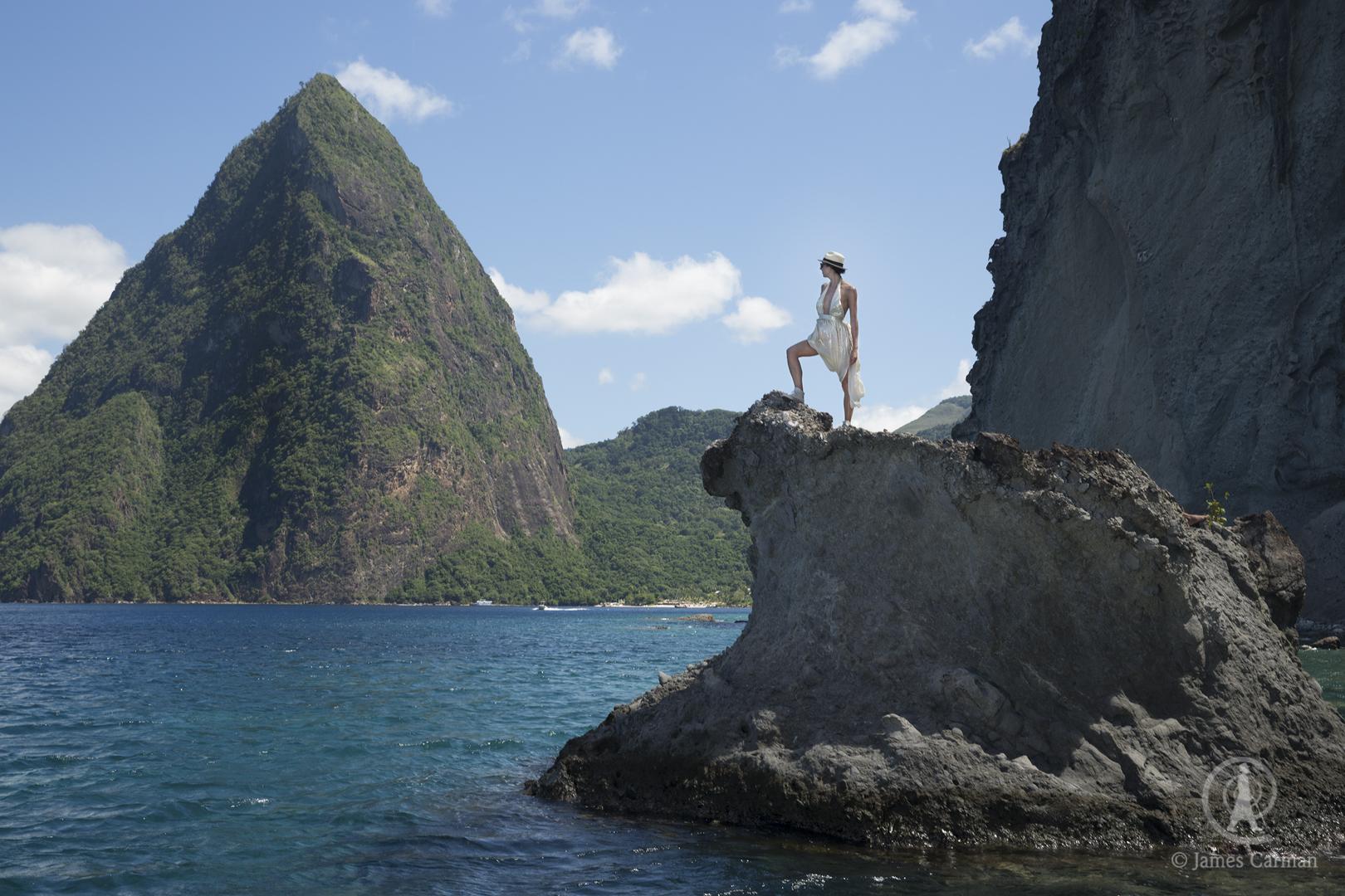 Surveying the Caribbean Sea.