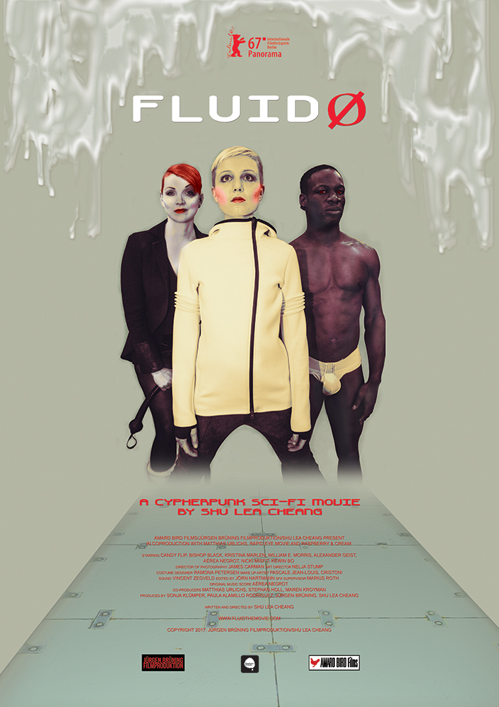 Poster for the Fluid0 Shu Lea Chan movie, Fluid0. Director of Photography, James Carman.